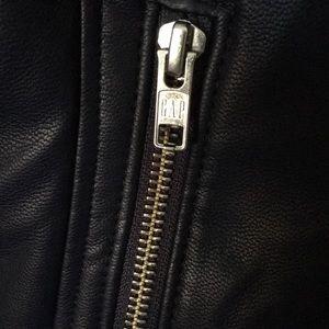 GAP Jackets & Coats - Gap Kids Faux Leather Motorcycle Jacket Sz S